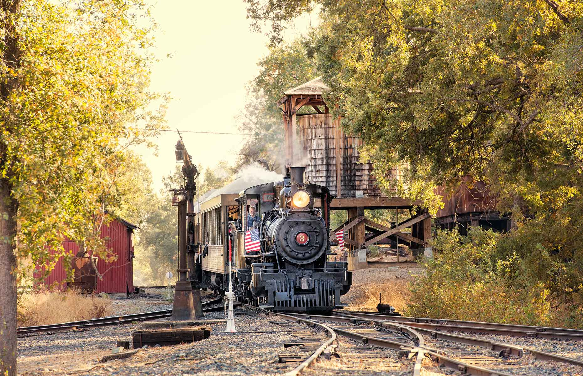 Sierra #3 Railroad at 1897 State Historic Park (Image: Menka Belgal)