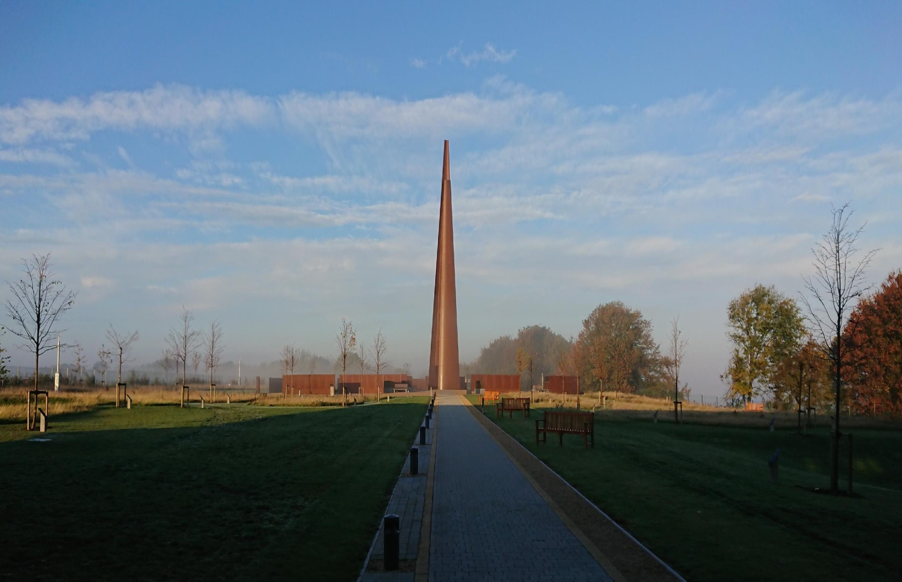 The ochre spire at the International Bomber Command Centre (Image: International Bomber Command Centre/Facebook)