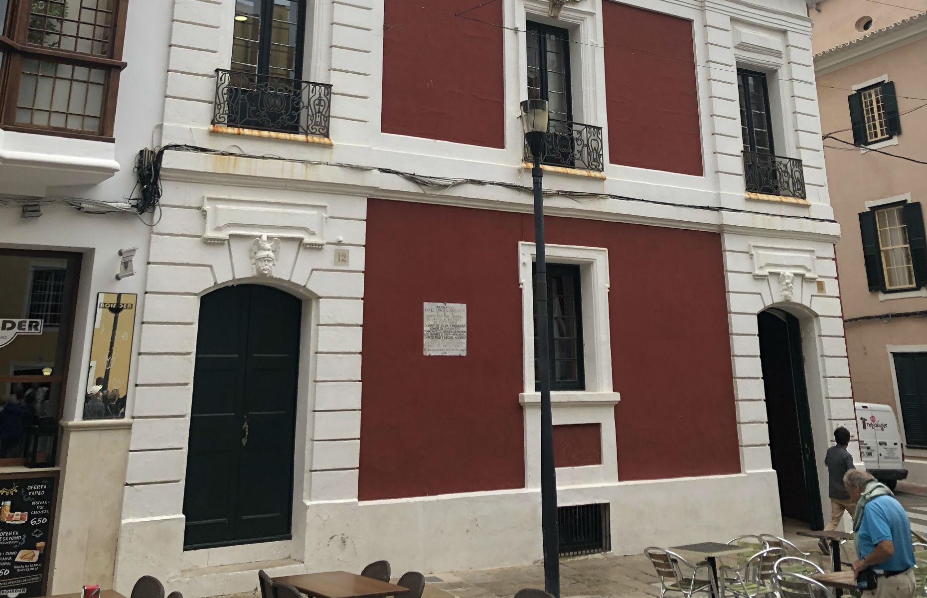 Mahon red brick building