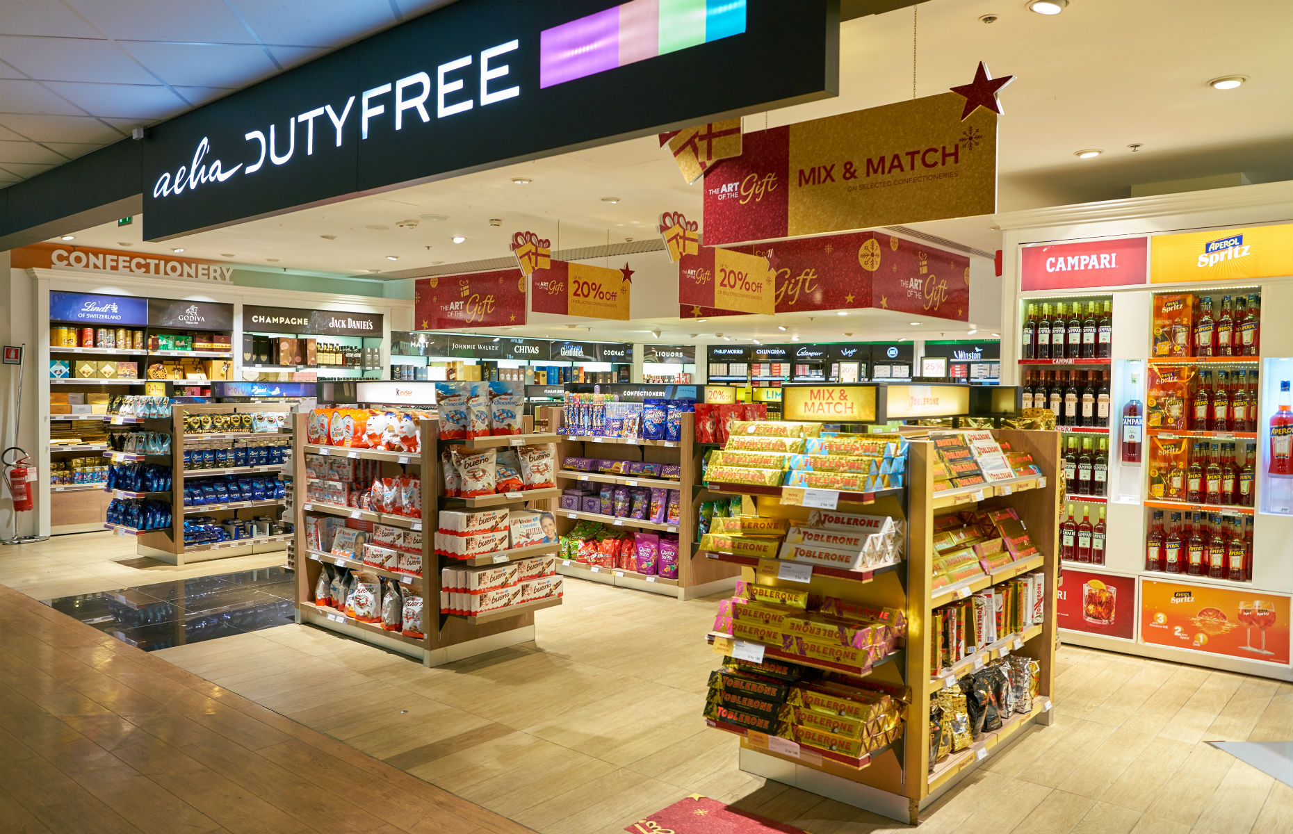 duty free showing chocolate