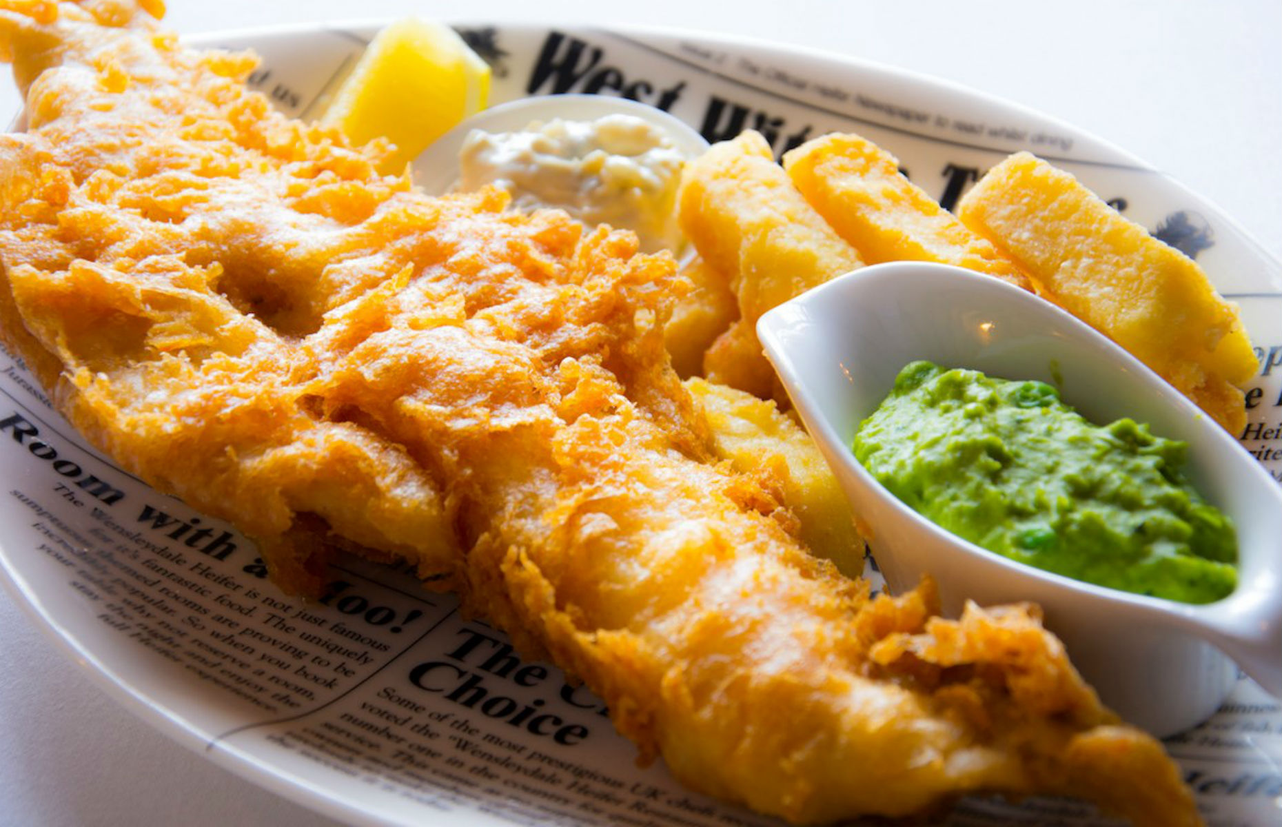 Fish and chips at Wensleydale Heifer (Image: The Wensleydale Heifer/Facebook)