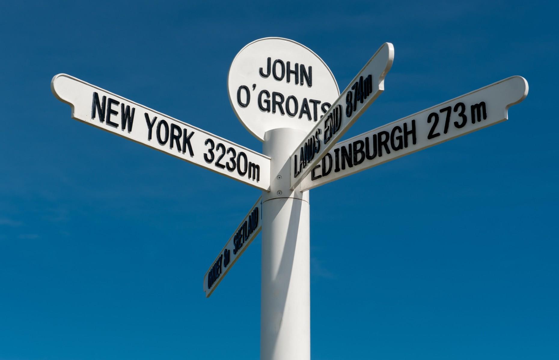 John O'Groats signpost (Image: mountaintreks/Shutterstock)