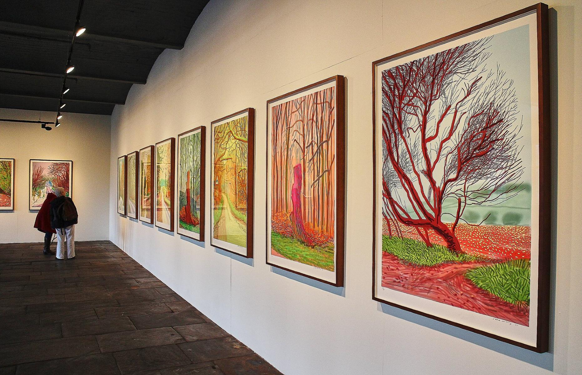 Hockney artwork in Salts Mill (Image: Salts Mill/Facebook)