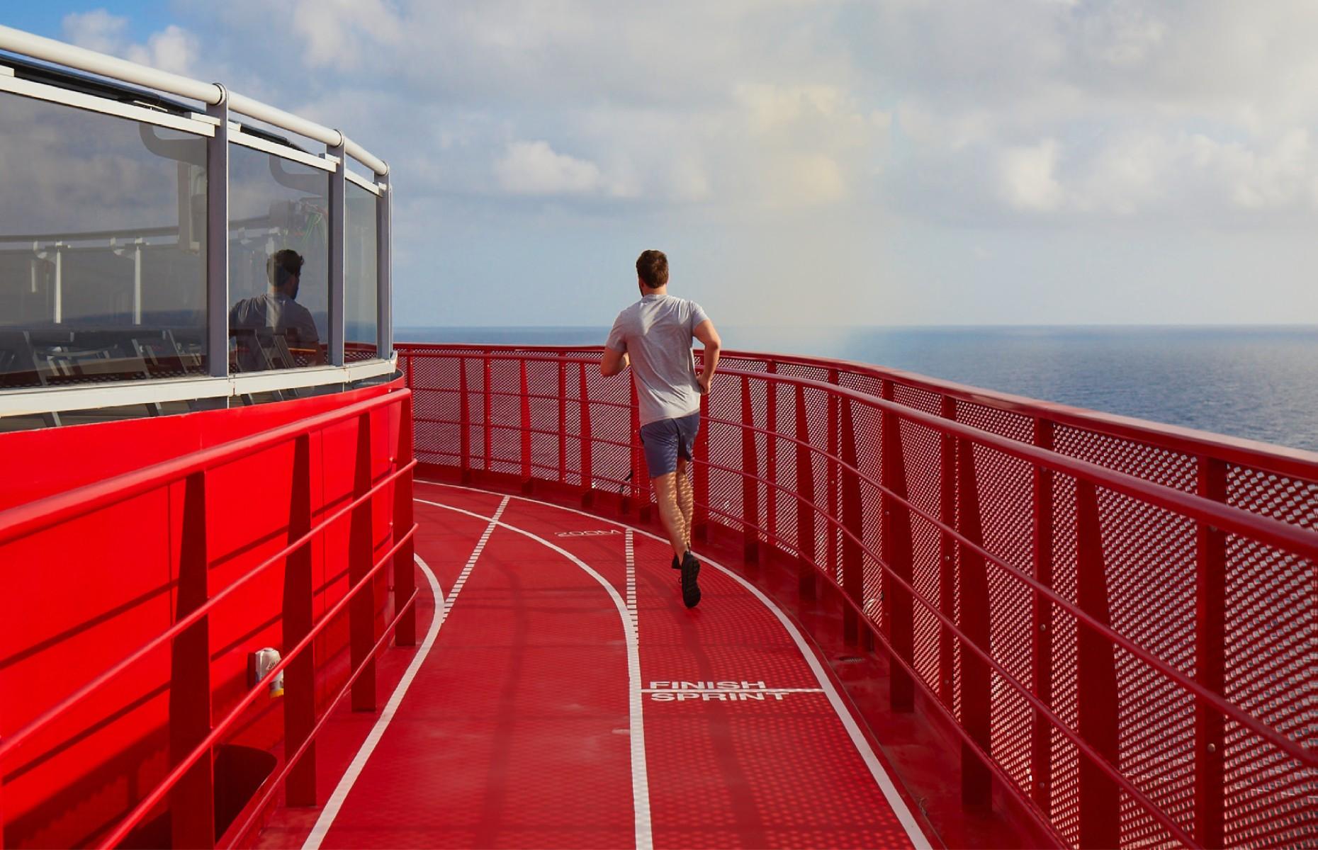 Running circuit onboard (Image: Virgin Voyages)