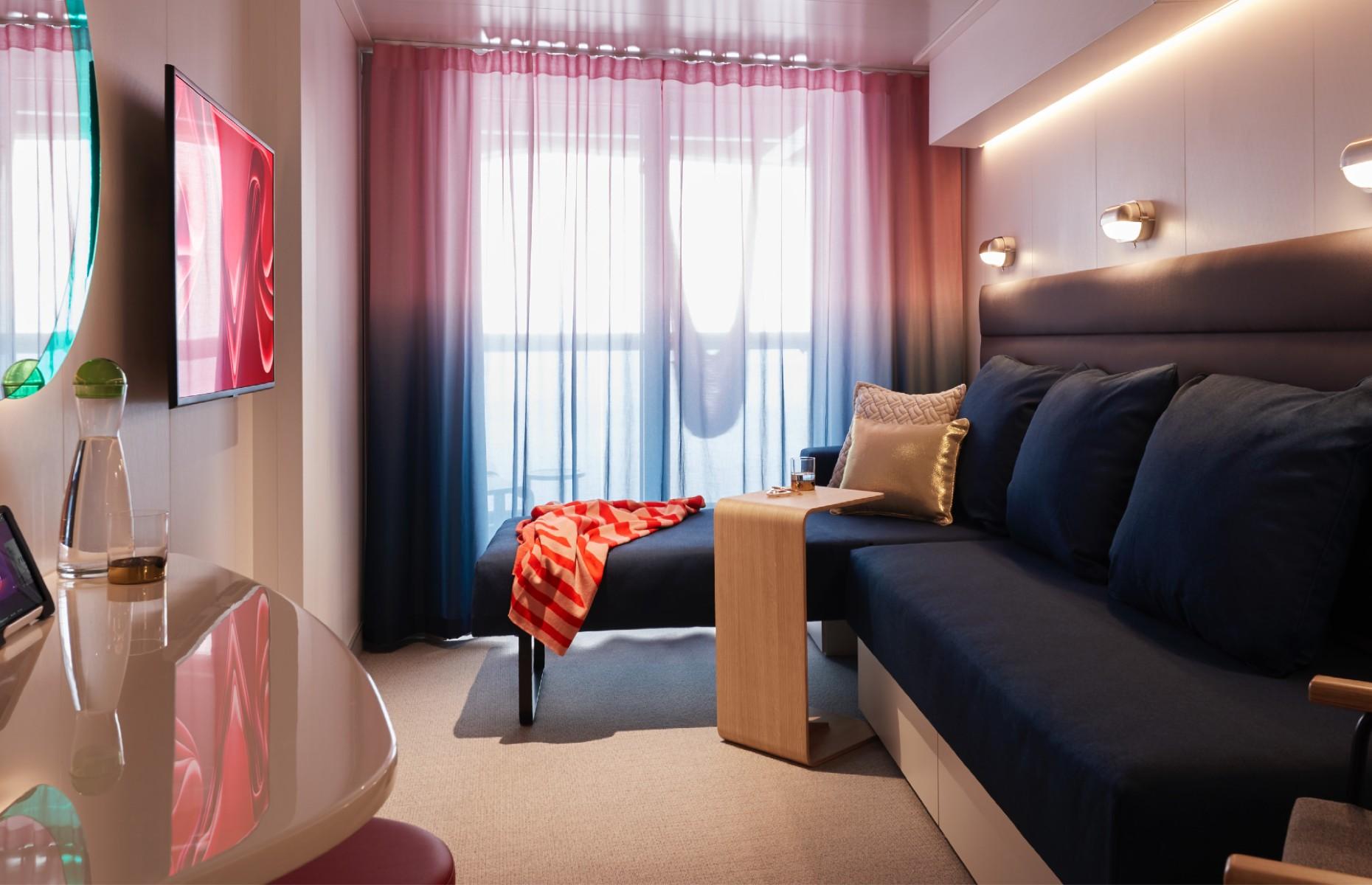 Sea Terrace room (Image: Virgin Voyages)
