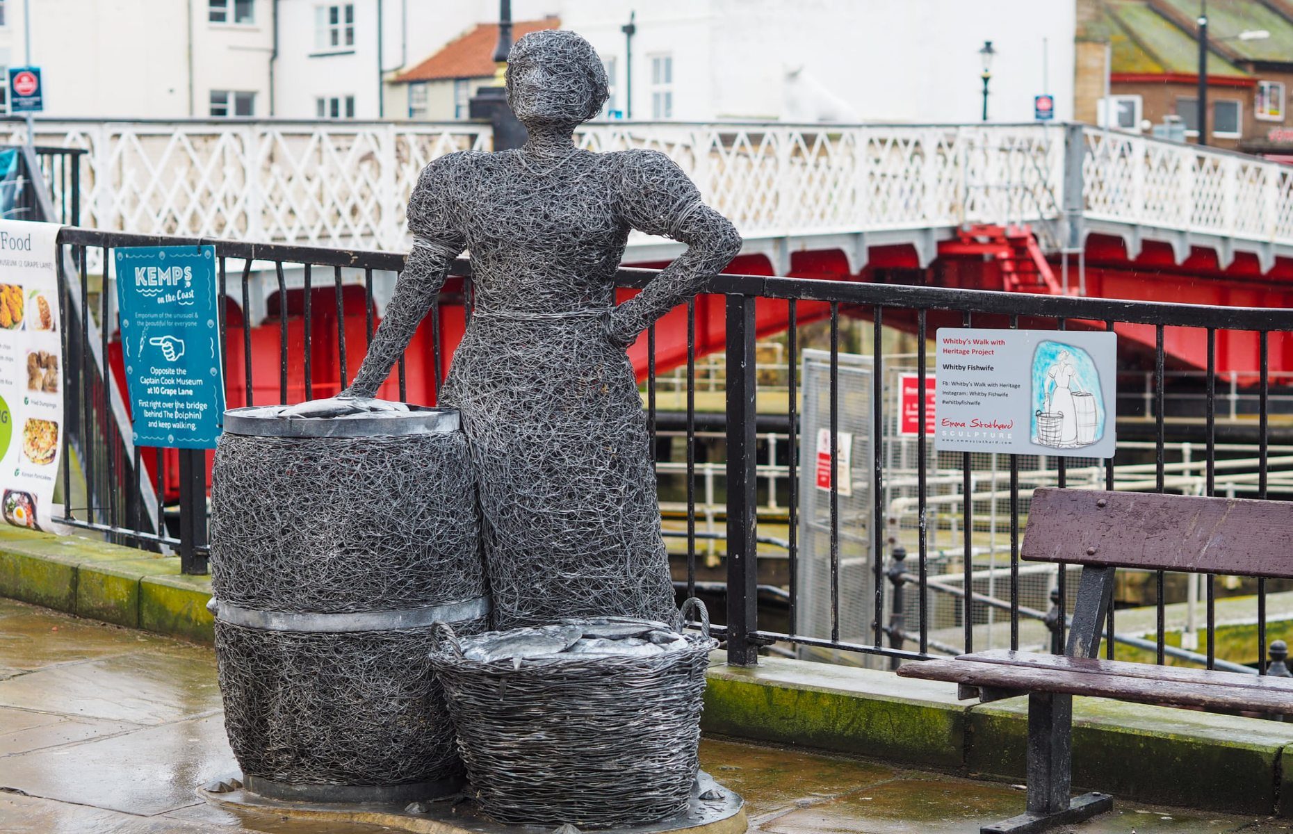 One of the sculptures by Emma Stothard (Image: Discover Yorkshire Coast/Facebook)
