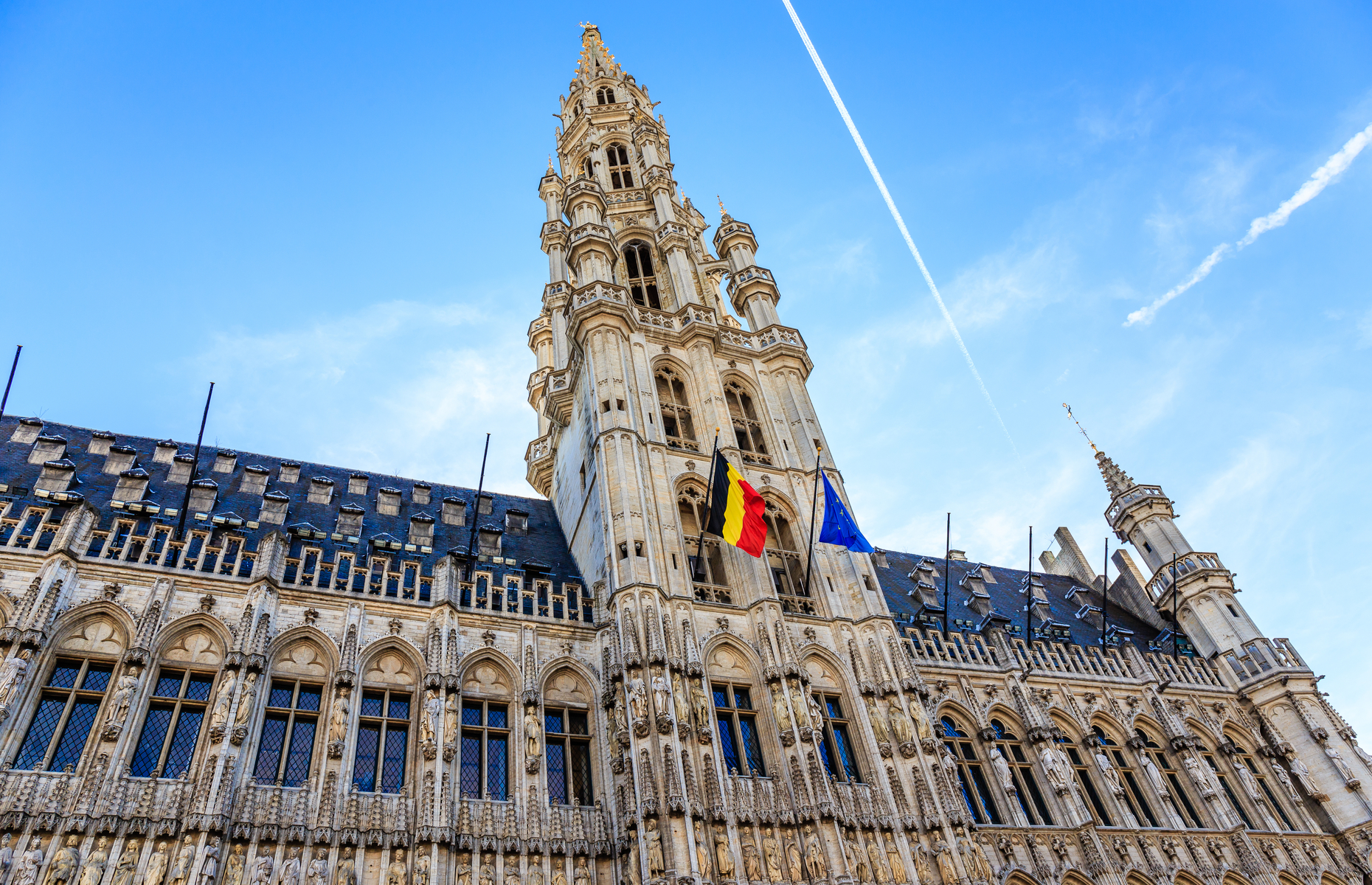 Neighbourhoods in Brussels Town Hall Grand-Place
