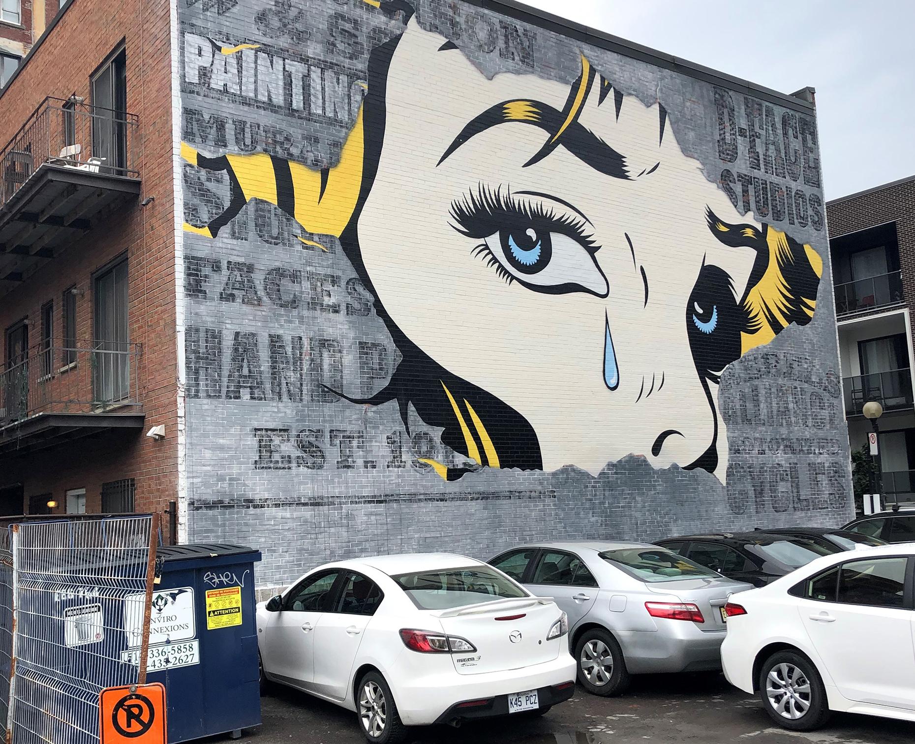 Street art in the Plateau