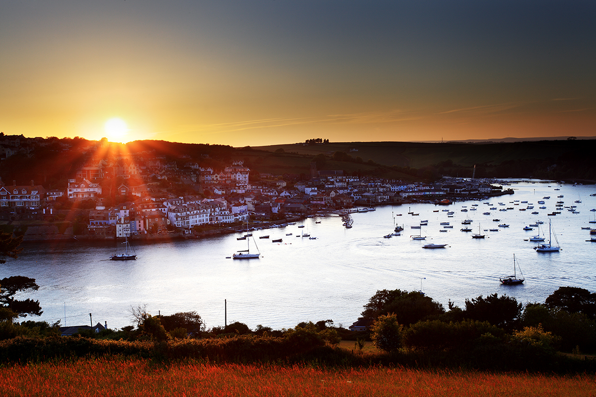 Salcombe, sunset, Devon