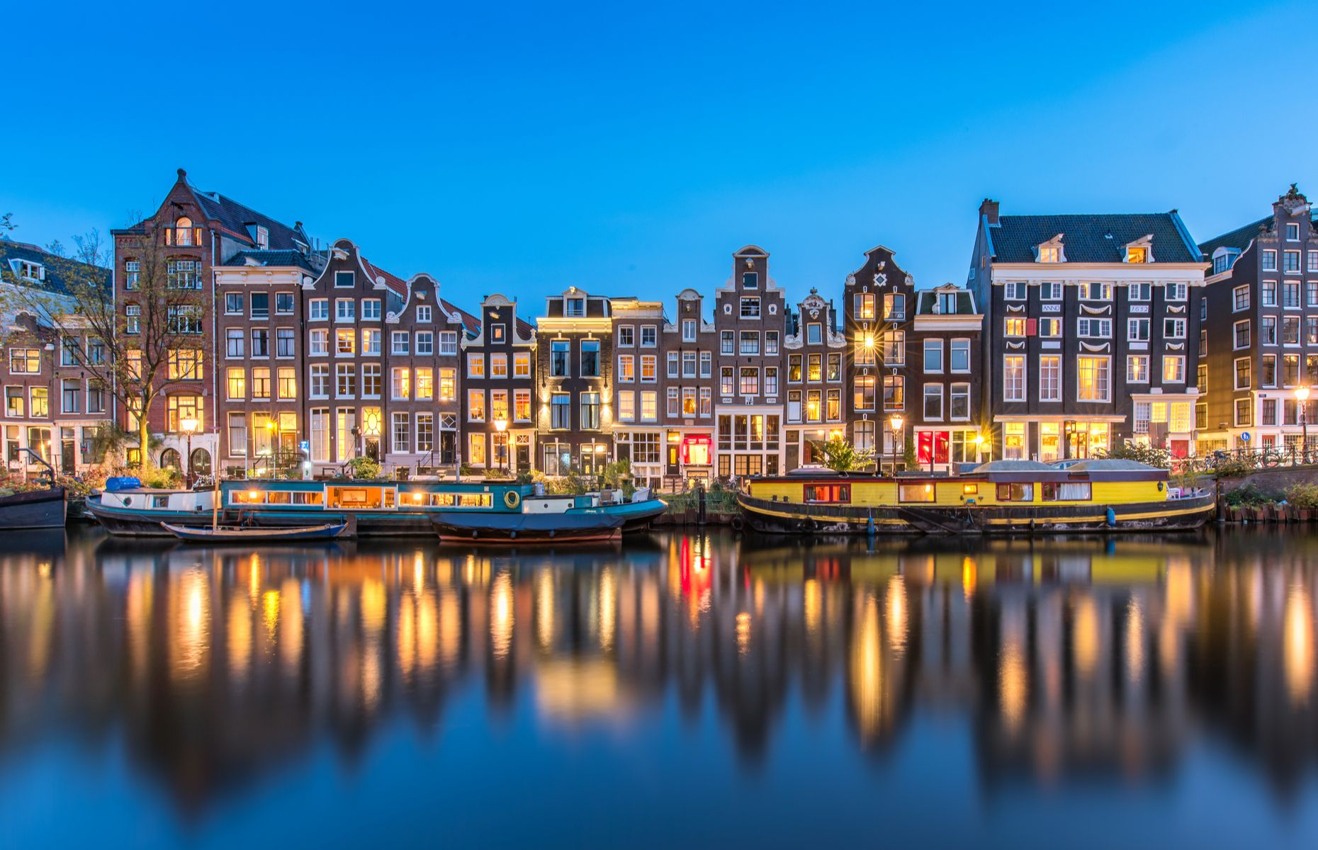 Canal in Amsterdam (image: Mr. Ngoway/Shutterstock)