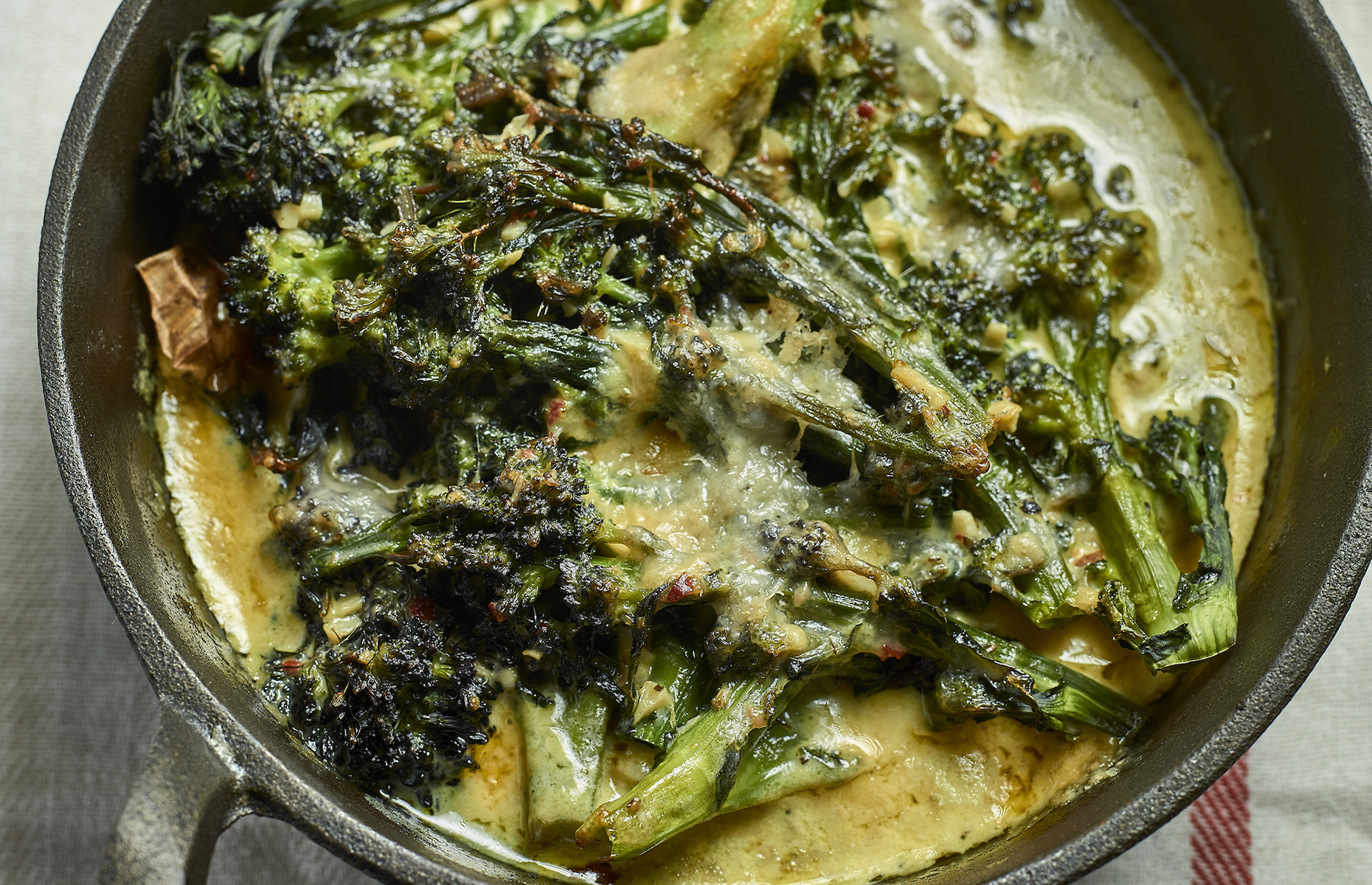 Roasted sprouting broccoli