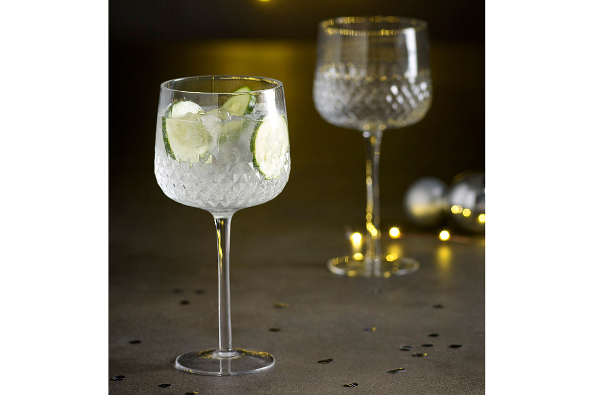 Embossed gin glasses from Next