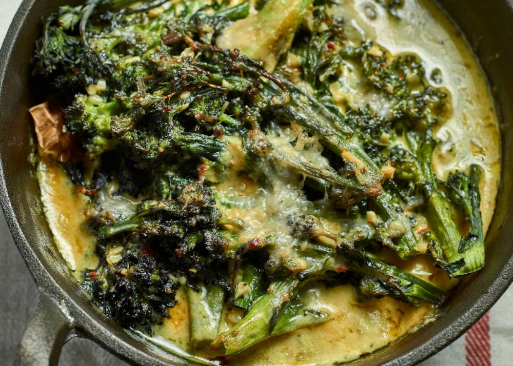 Roasted purple sprouting broccoli