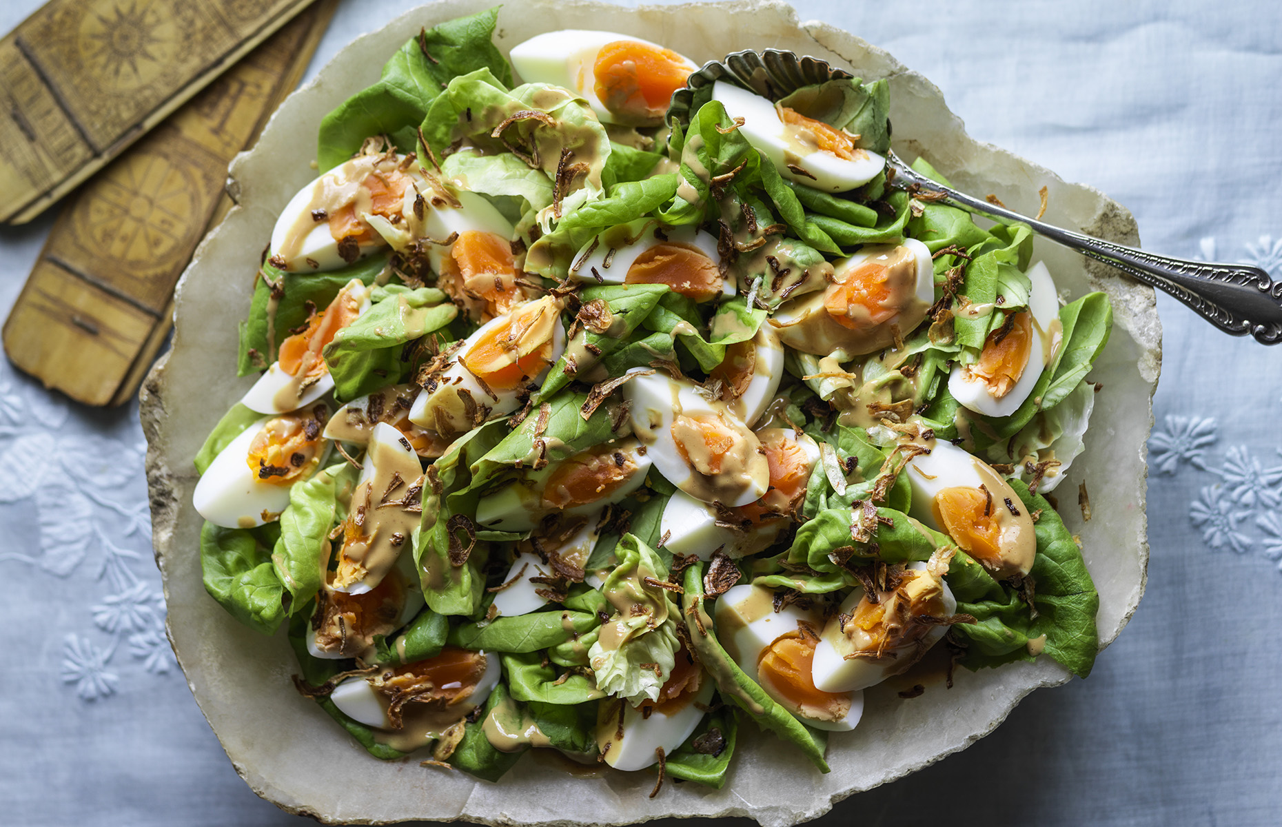 Egg and lettuce salad