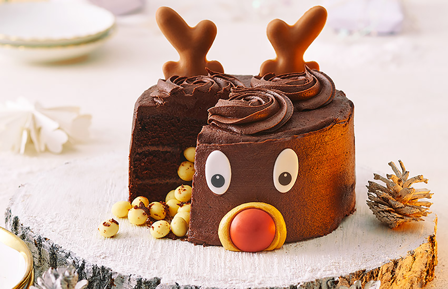 Sainsbury's Rudy the Reindeer chocolate cake