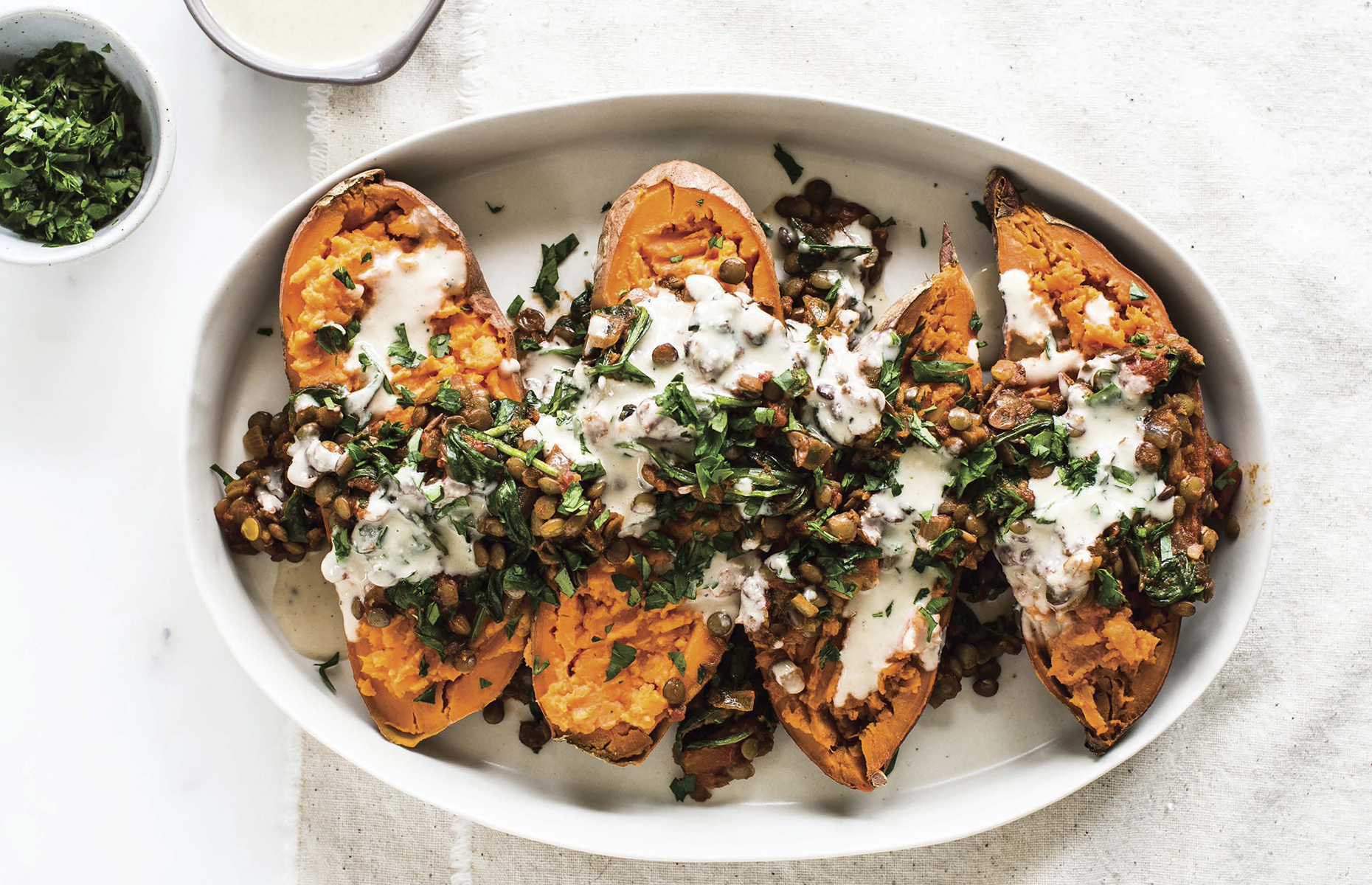 Moroccan sweet potatoes
