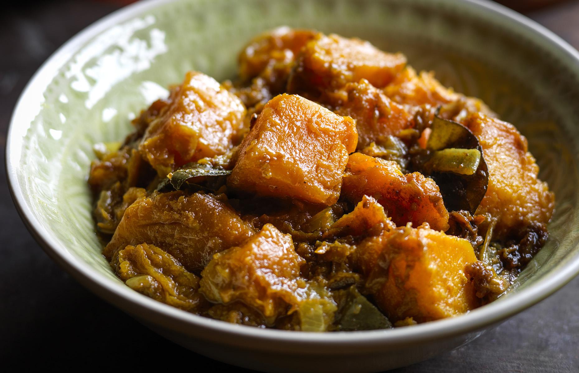 Golden pumpkin curry