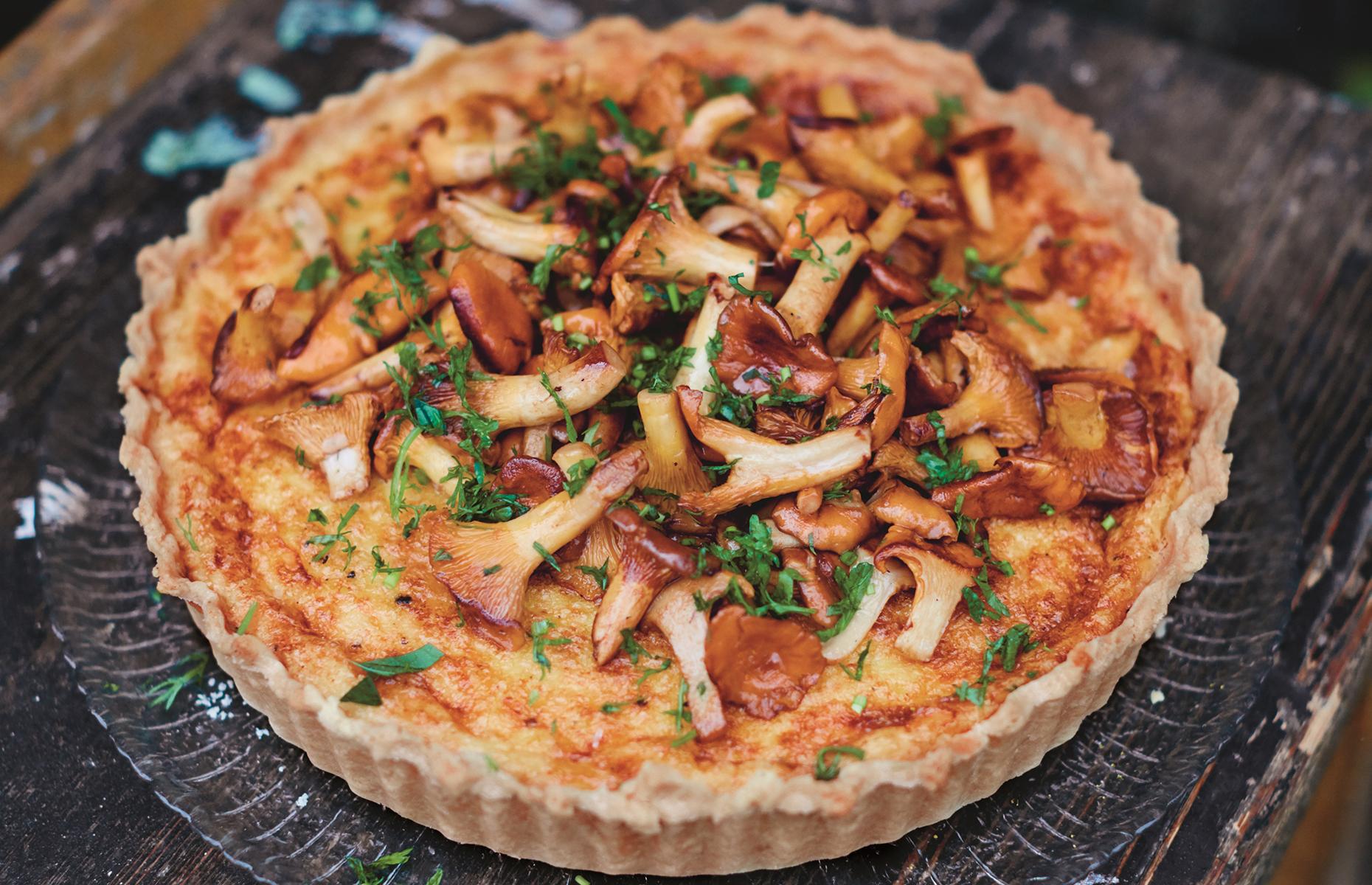 Mushroom and cheese pie