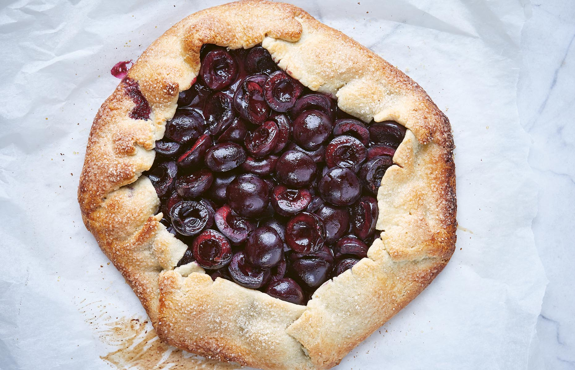 Cherry and almond galette (Image: Califonia: Living+Eating/Hardie Grant)