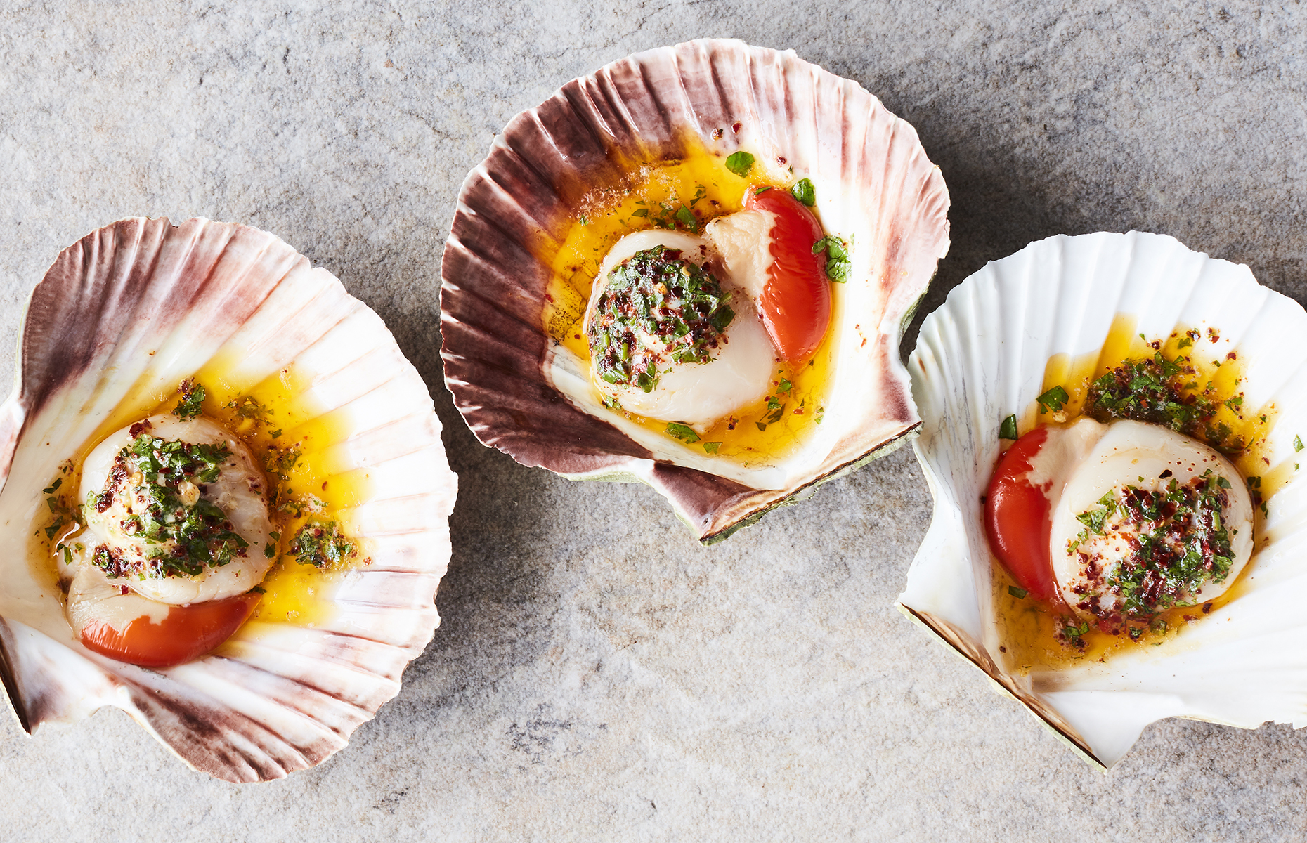 Baked scallops with chipotle butter (Image: Share/Ryland Peters & Small)