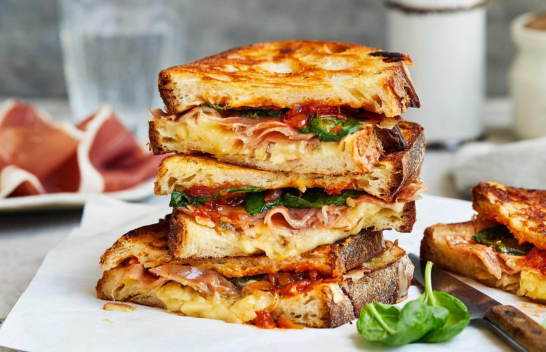 Parma Ham ploughman's toastie (Image courtesy of Consorzio del Prosciutto di Parma)
