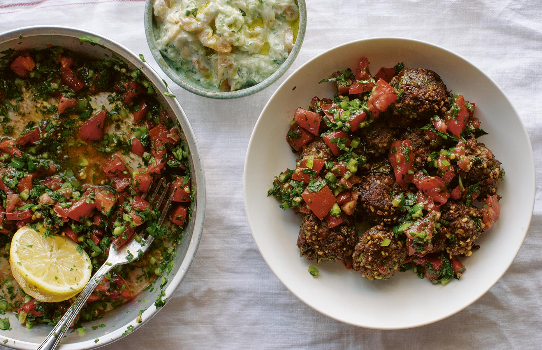 Lamb kofte with parsley salad (Image: Aegean/Kyle Books)