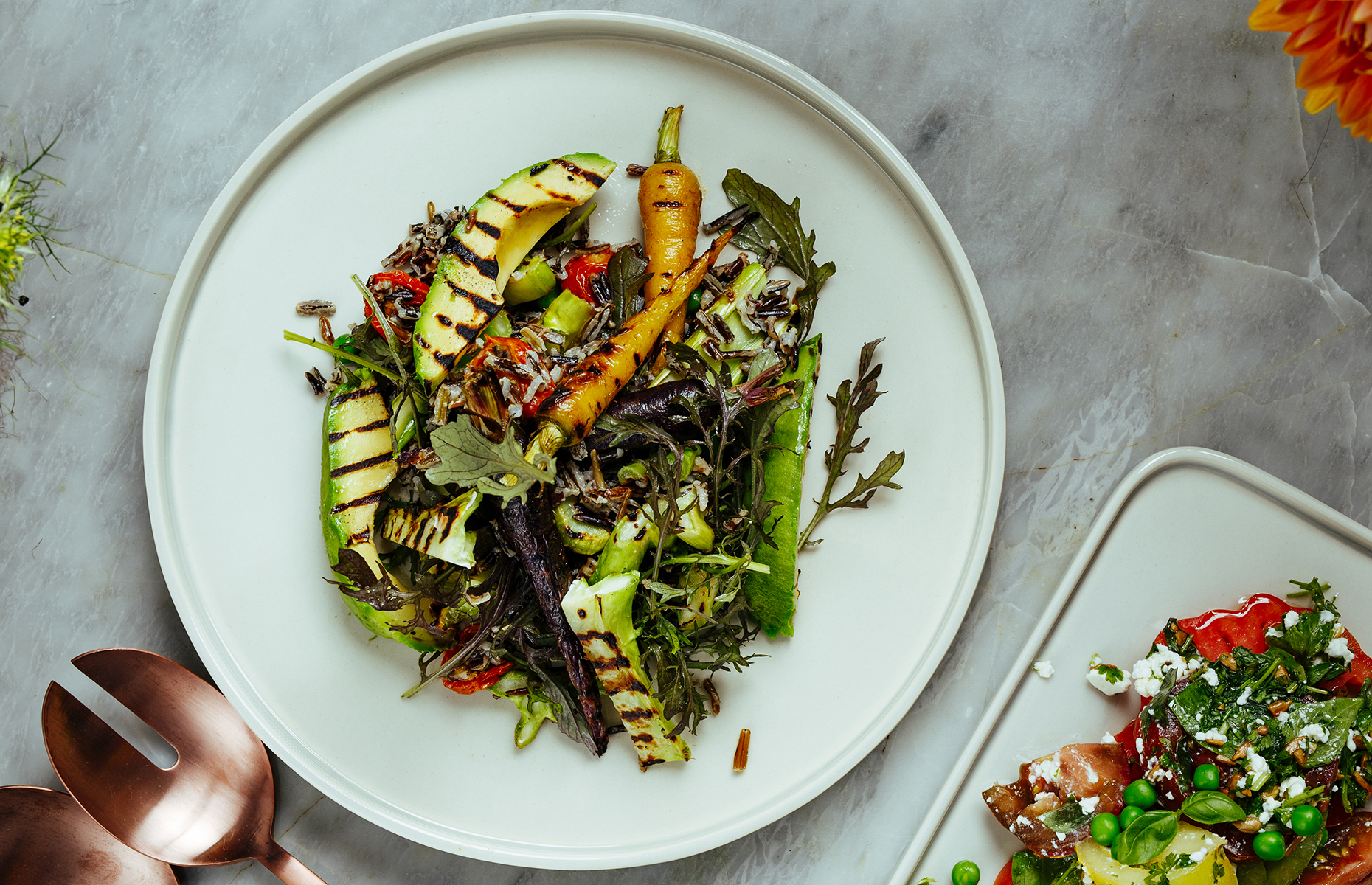 Grilled avocado salad (Alex Head for Eat and Drink Festival/loveFOOD)