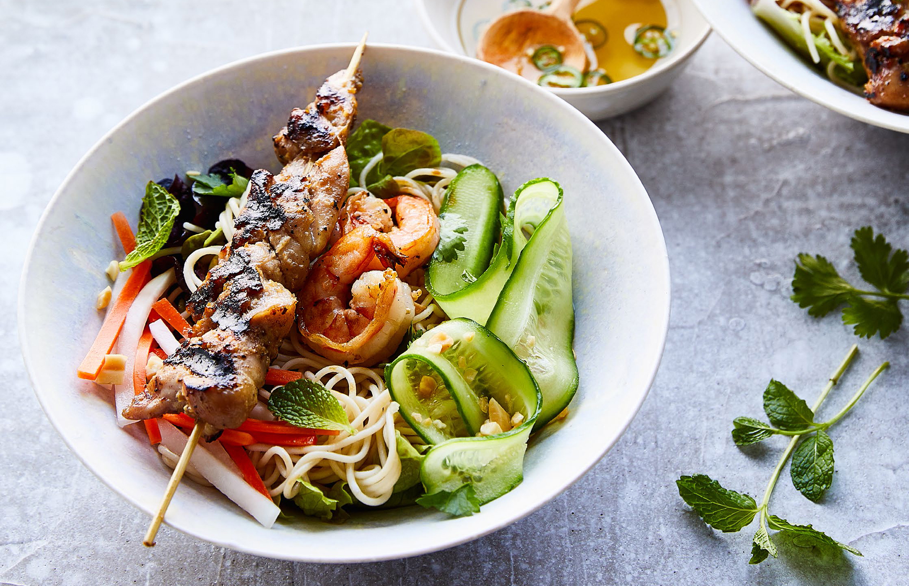 Rice noodle salad bowl (Image: Vietnamese Food Any Day/Ten Speed Press)