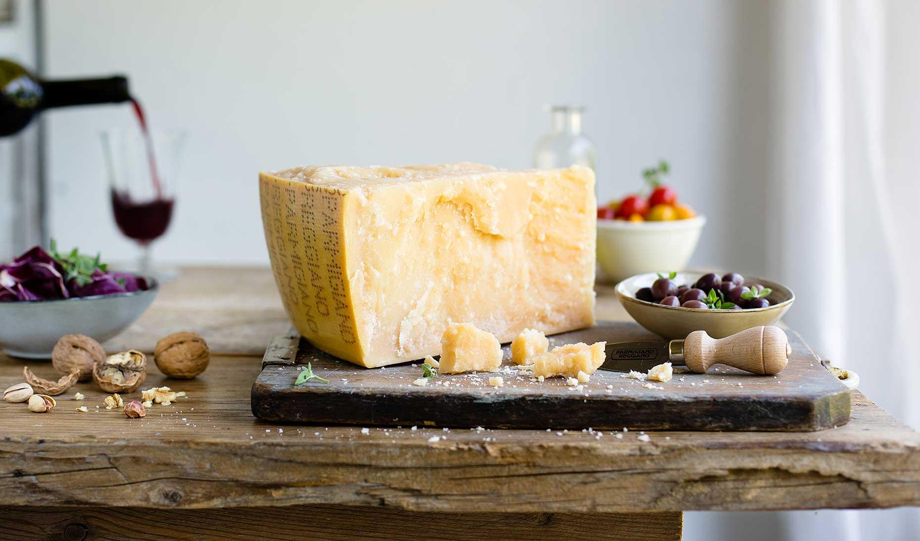 Medium-aged Parmigiano Reggiano (Image: Courtesy of Consortium of Parmigiano Reggiano)