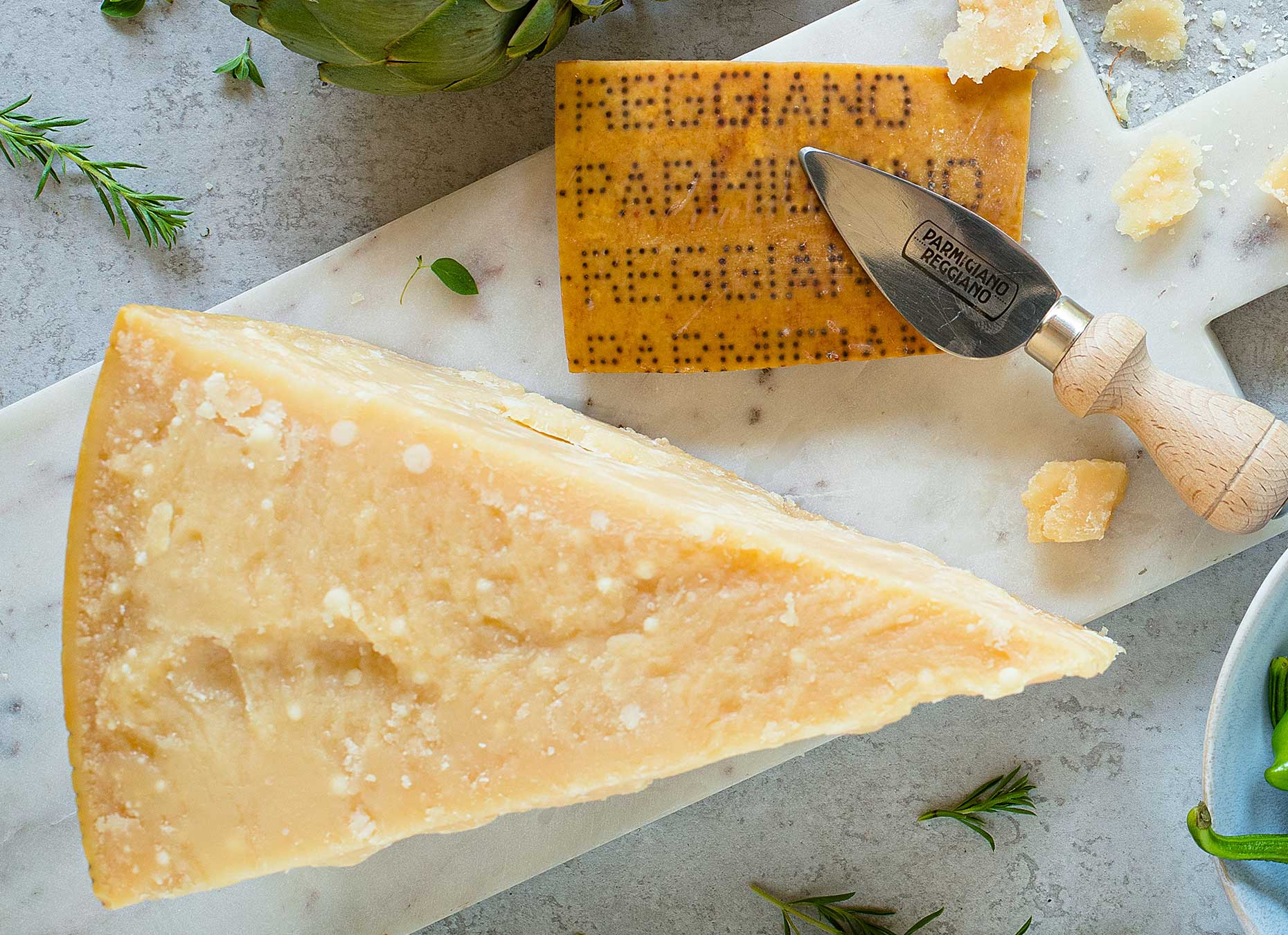 Almond-shaped knife for Parmesan (Image: Courtesy of Consortium of Parmigiano Reggiano)