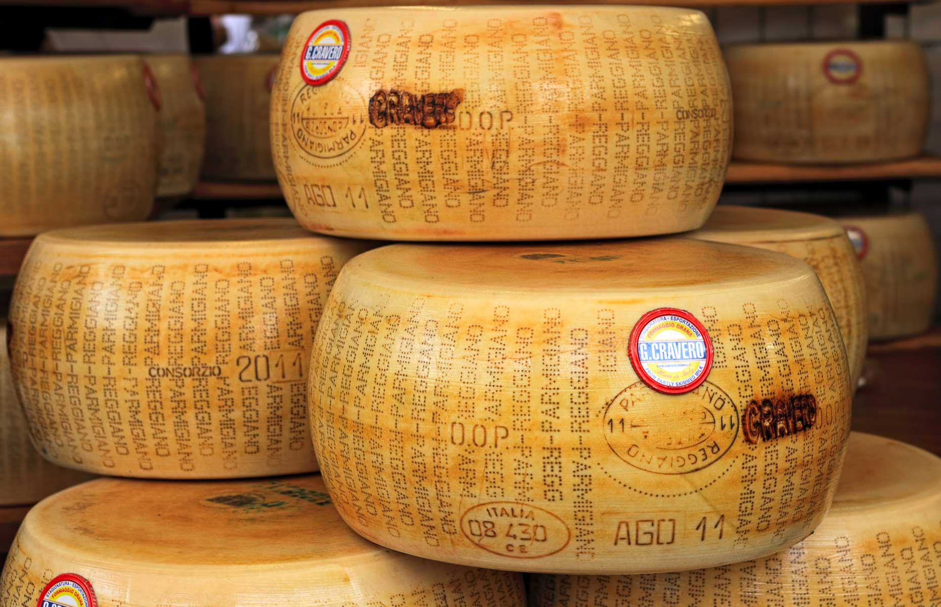 Branded Parmesan wheel (Image: Rostislav Glinsky/Shutterstock)