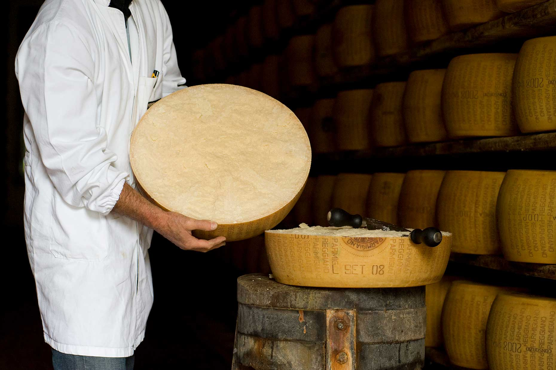 Wheel of Parmesan (Image: Courtesy of Consortium of Parmigiano Reggiano)