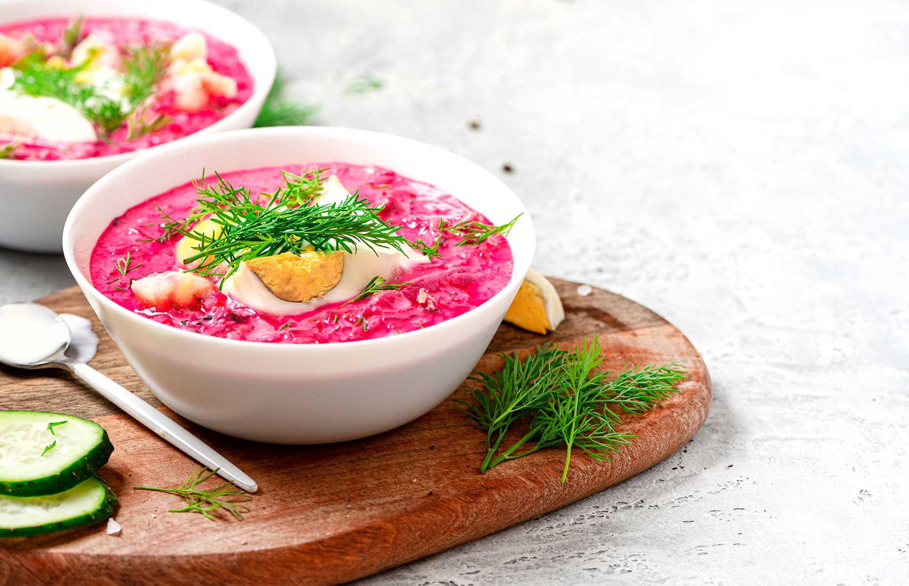 Chilled beetroot soup (Image: Svetlana Monyakova/Shutterstock)