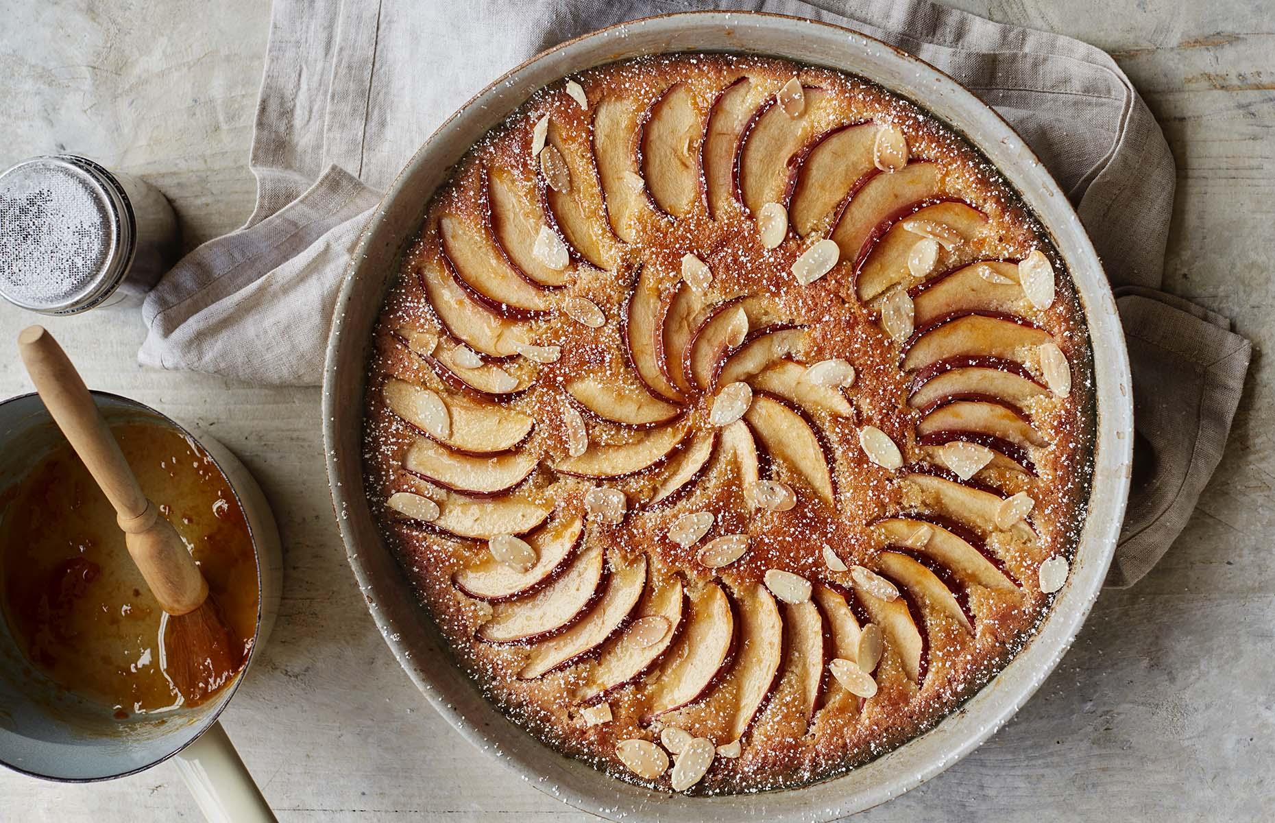 Brioche frangipane apple pudding (Image: Simple Comforts/BBC Books)