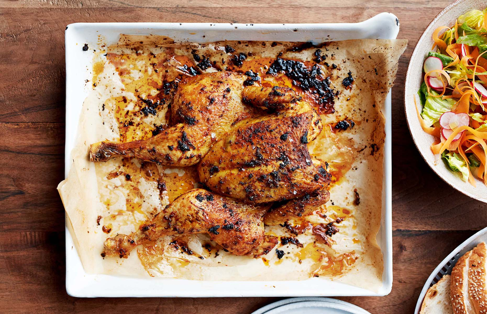 Herb and paprika chicken (Image: Ripe Figs/Bloomsbury Publishing)