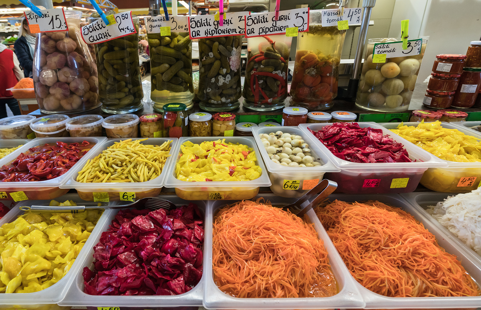 Different pickles in Riga Central Market