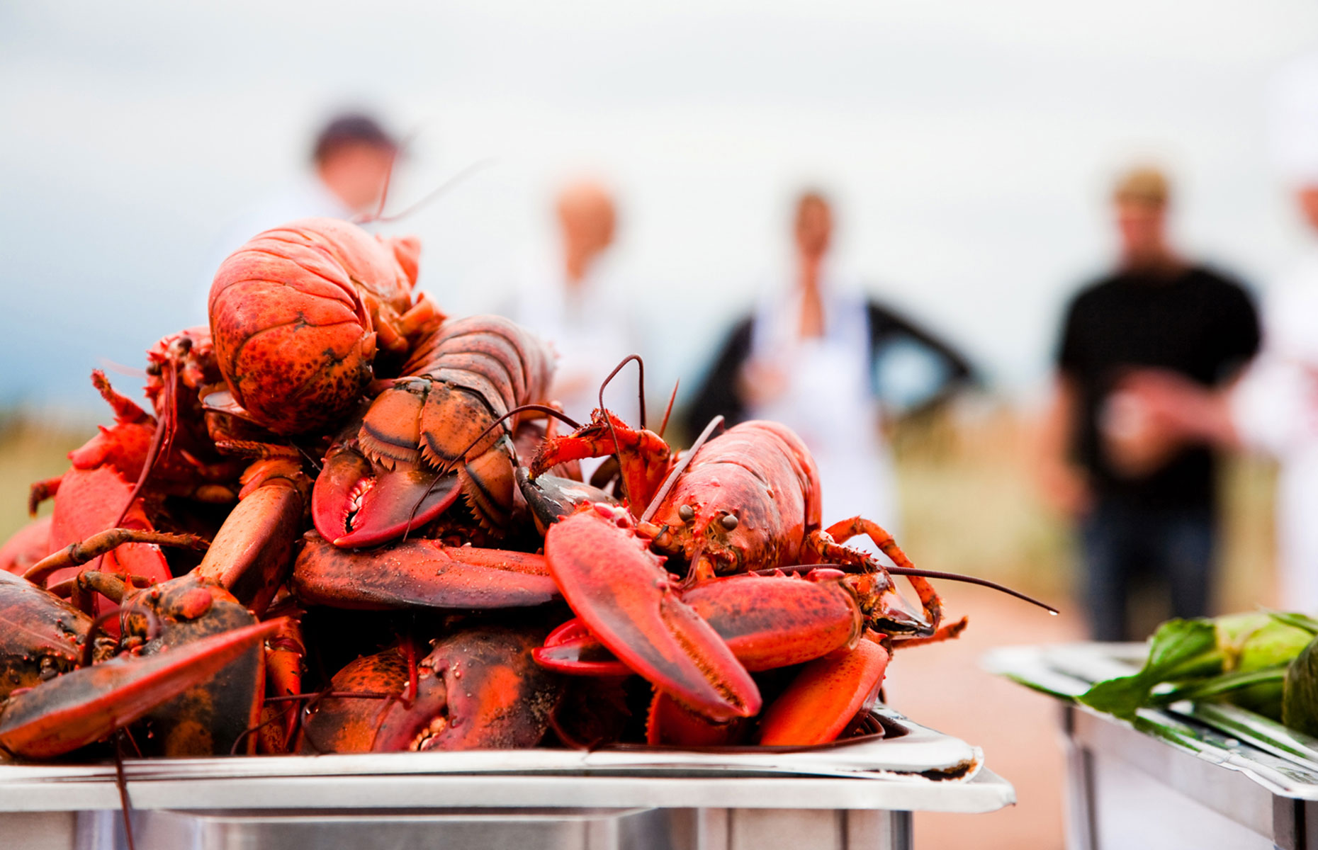 Lobster is available year round on Prince Edward Island