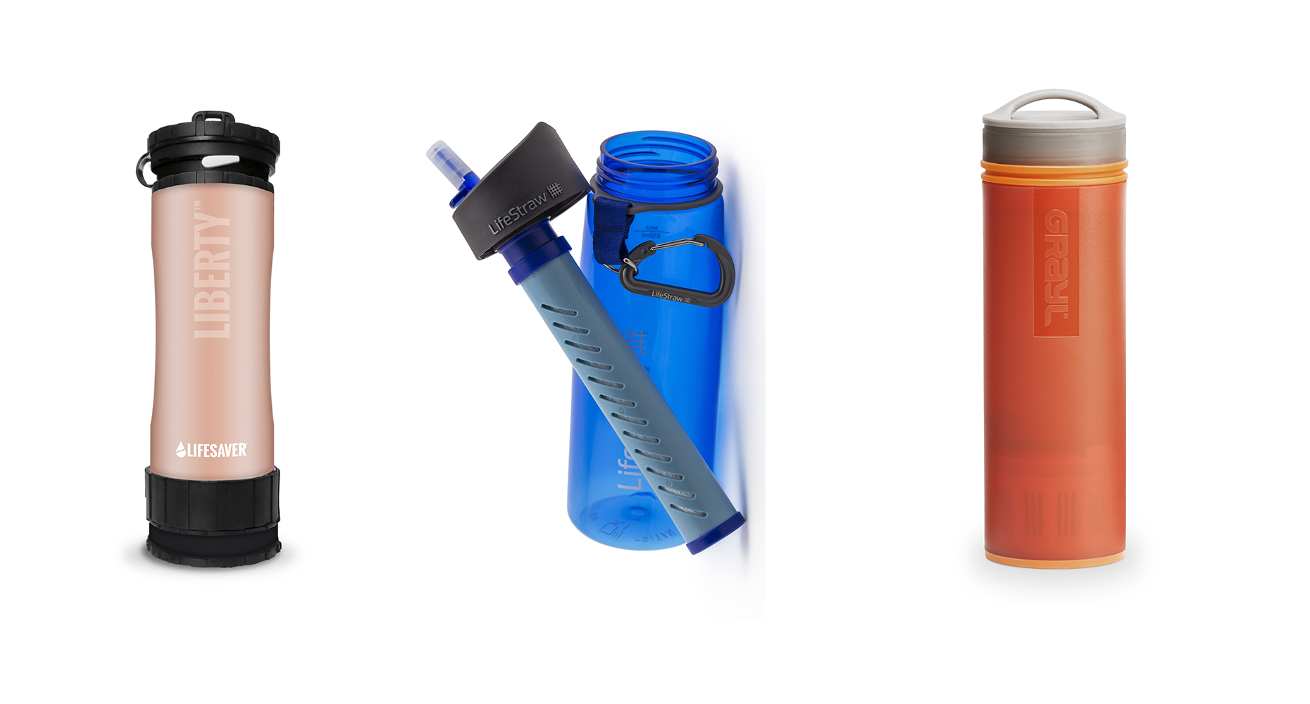 Adventure bottles that filter really dirty water