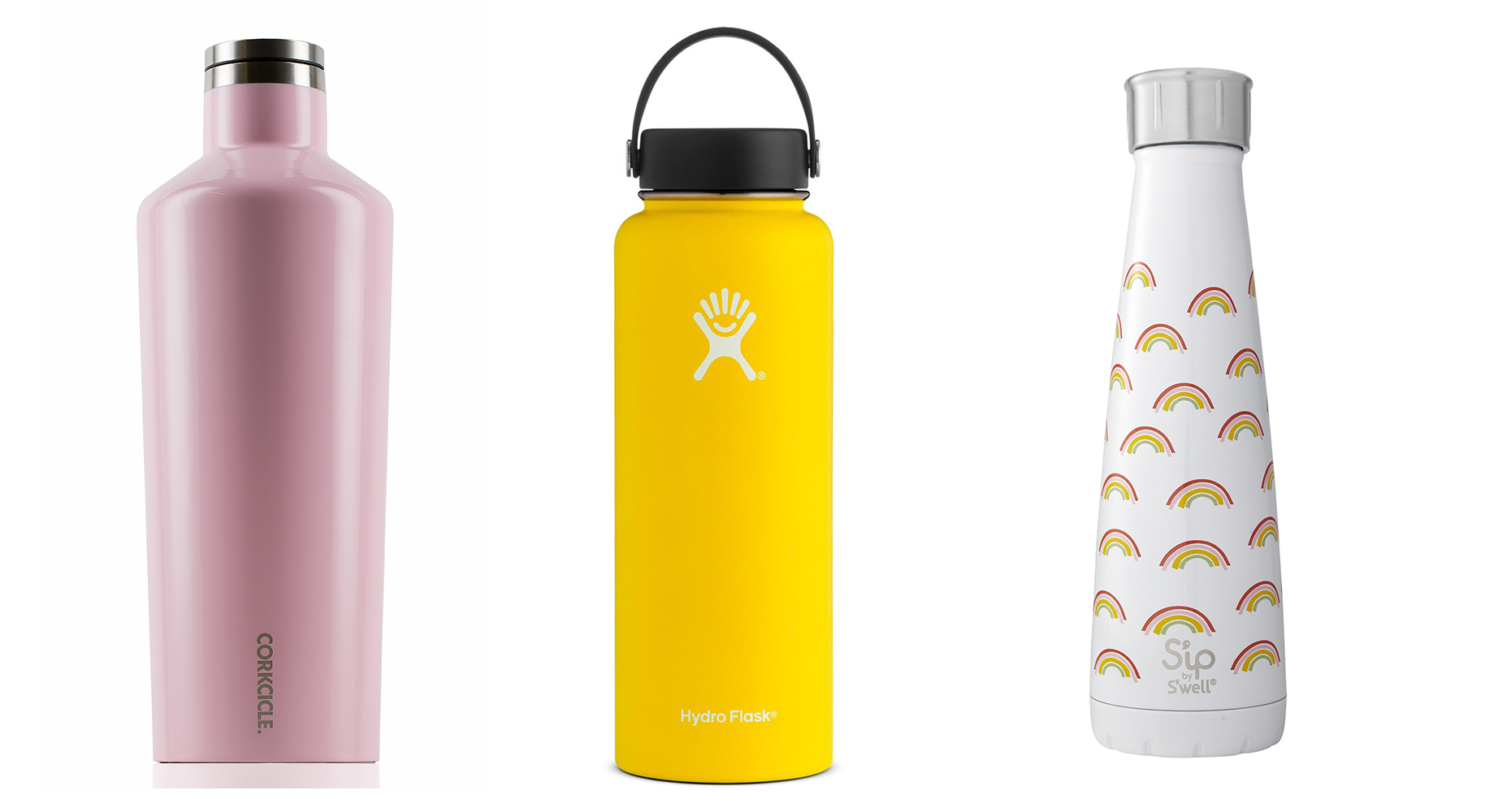 Insulated bottles to keep drinks hot or cold