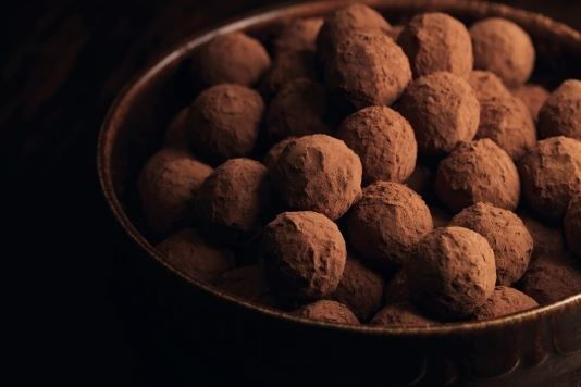 Salted brown sugar caramel chocolate truffles