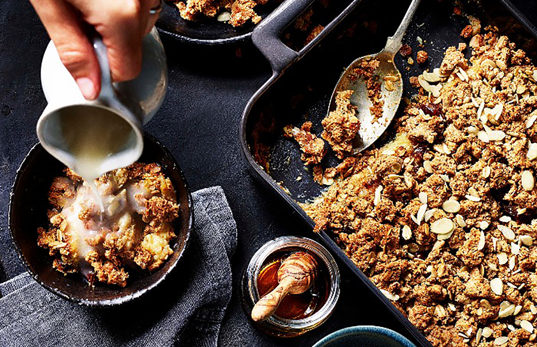 Peanut butter and banana crumble (Image: Bloomsbury/loveFOOD)