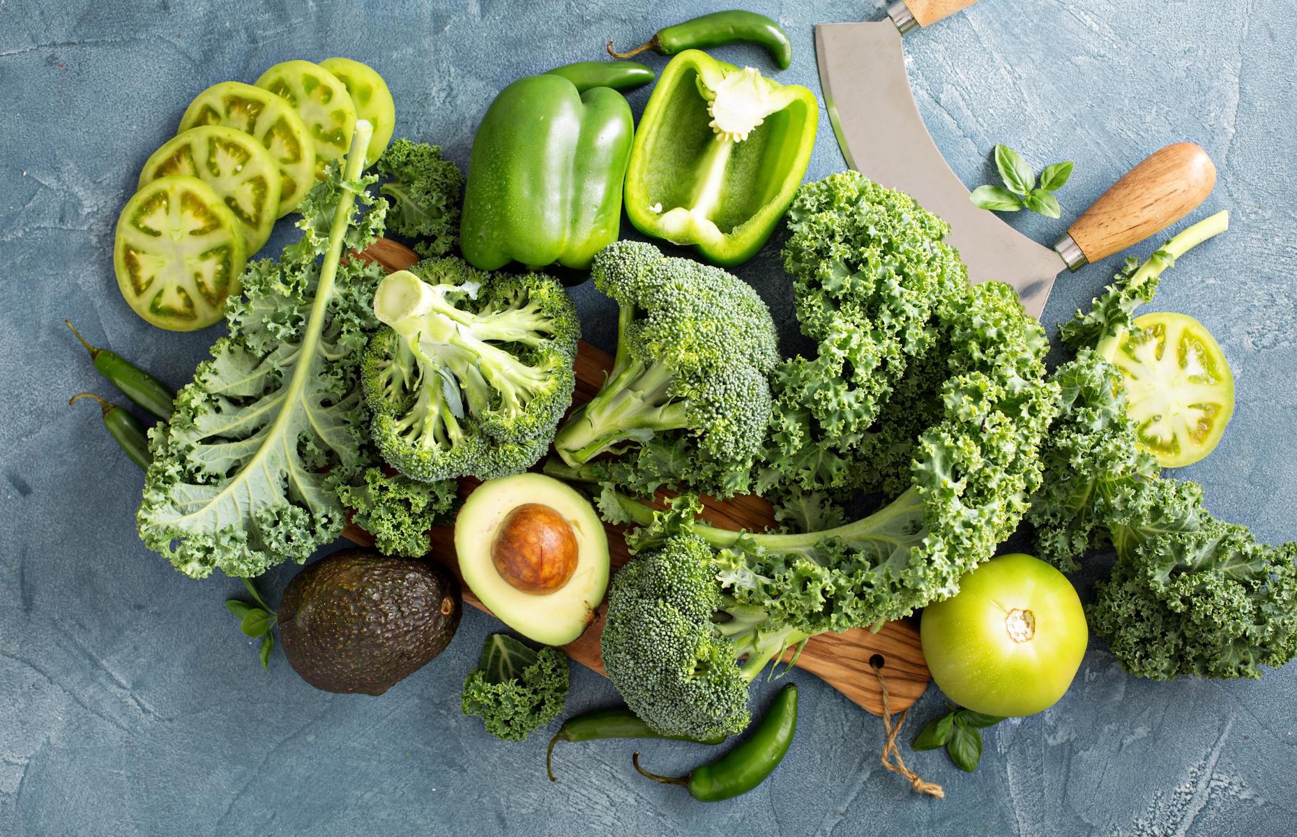 Mixed green vegetables (Image: Elena Veselova/Shutterstock)