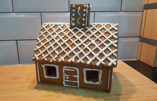 Ikea gingerbread house finished