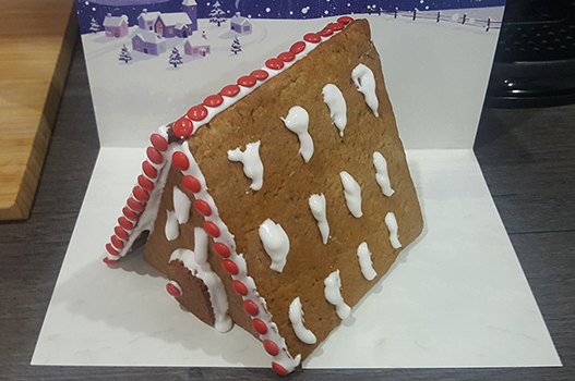 Waitrose gingerbread house finished