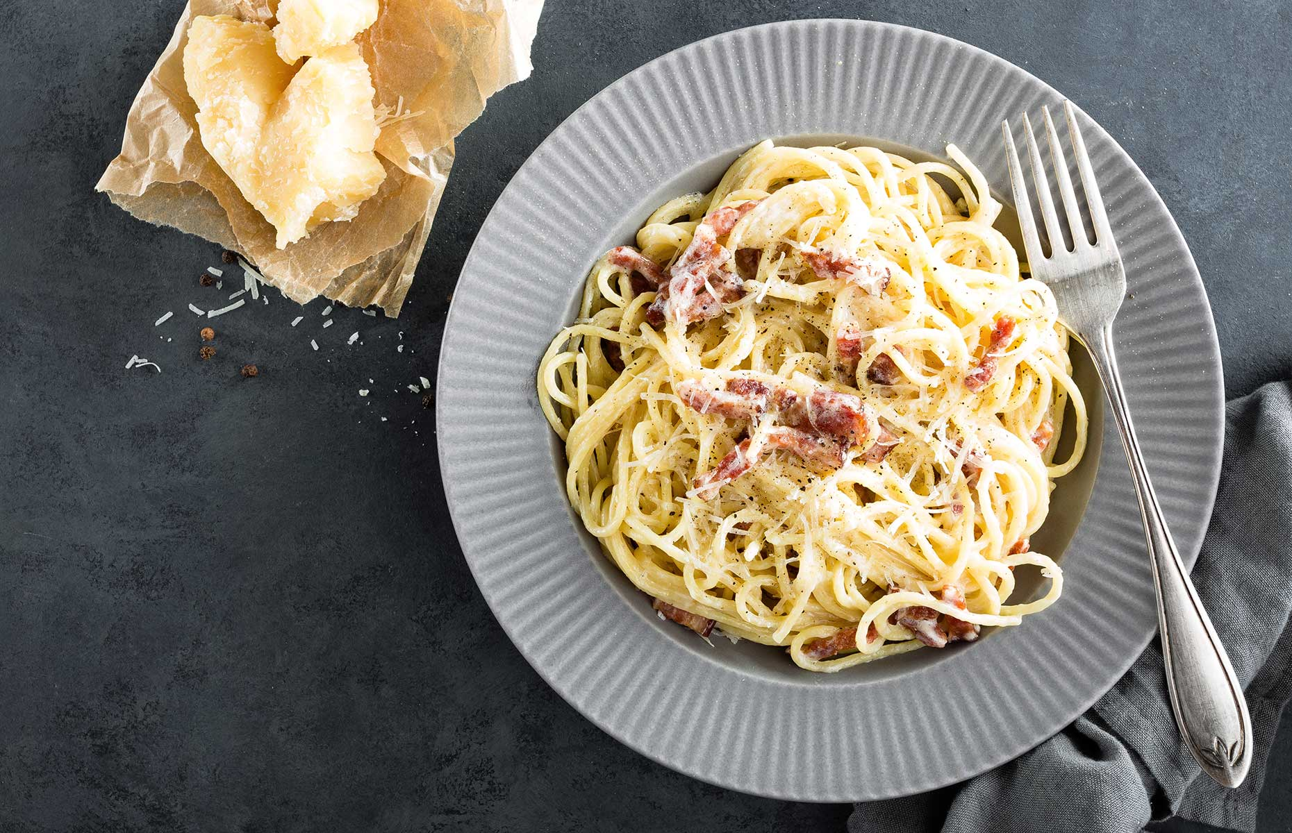 Carbonara with fresh homemade pasta