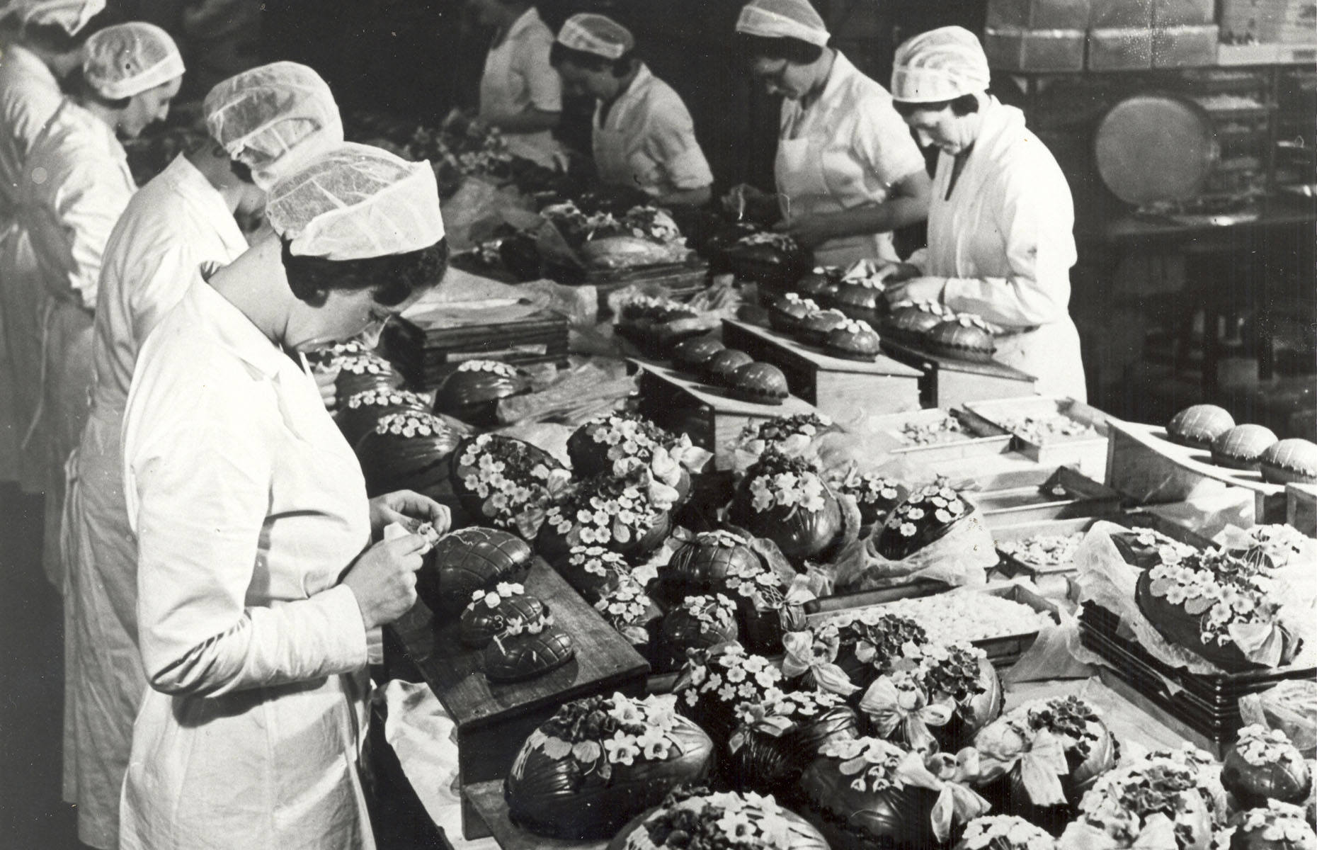 Easter egg production inside a Cadbury factory (Image: courtesy of Cadbury)