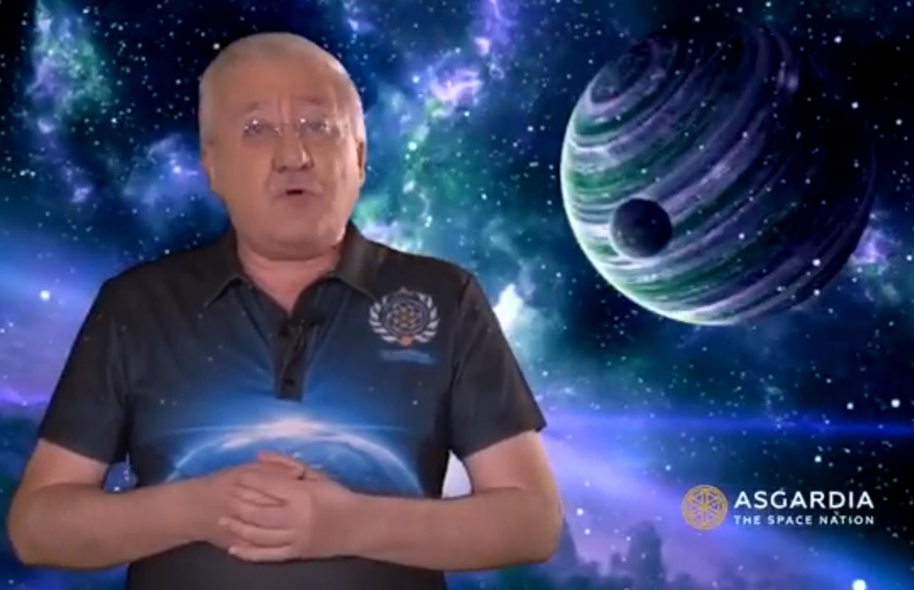 Igor Ashurbeyli, the man behind Asgardia. Image: Asgardia / YouTube
