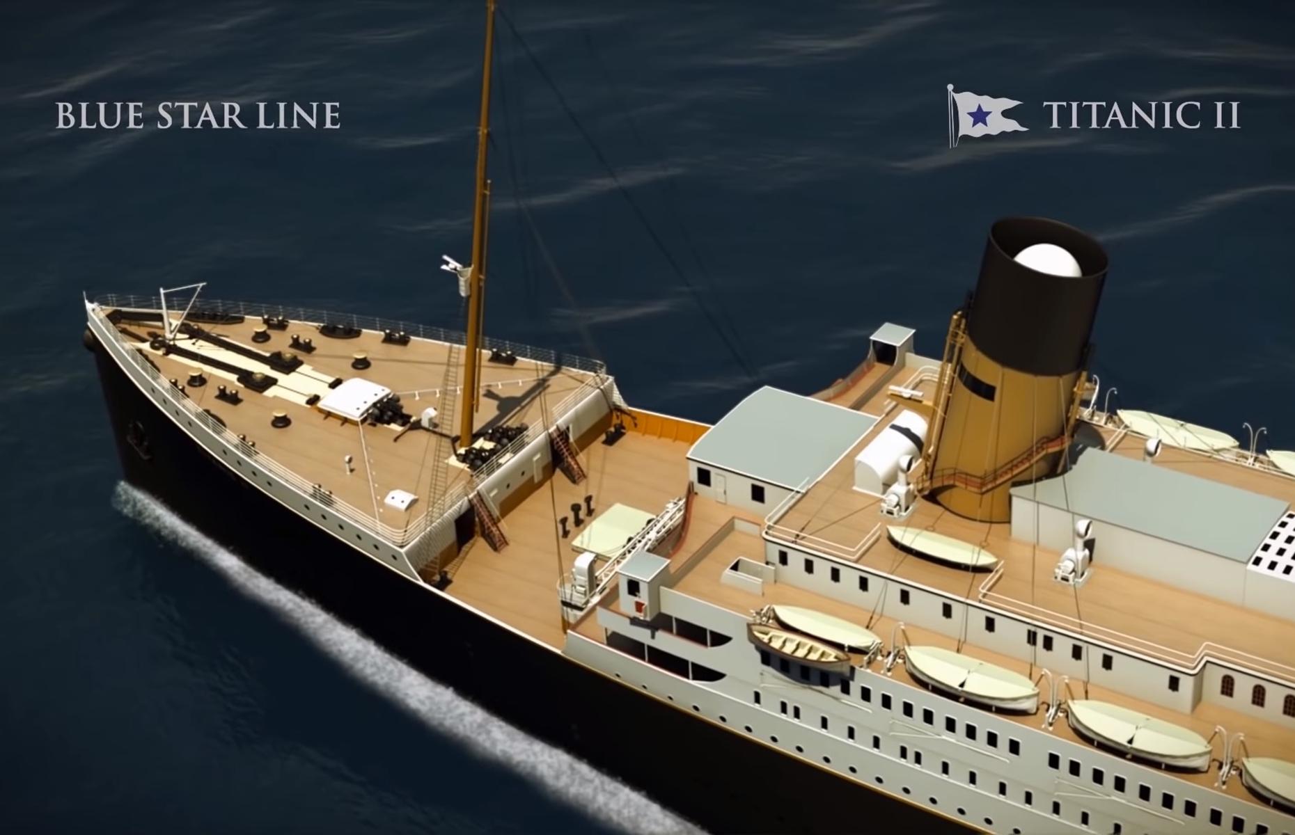 Clive Palmer & # 39; s Titanic. Image: Blue Star Line / YouTube