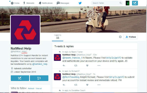 Warning of scammers creating fake bank Twitter accounts - BT
