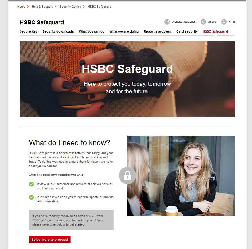 HSBC Safeguard email scam: don't let scammers access your bank